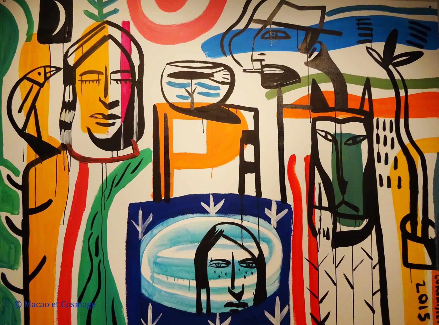Laurent Corvaisier fresque je suis un humain qui peint